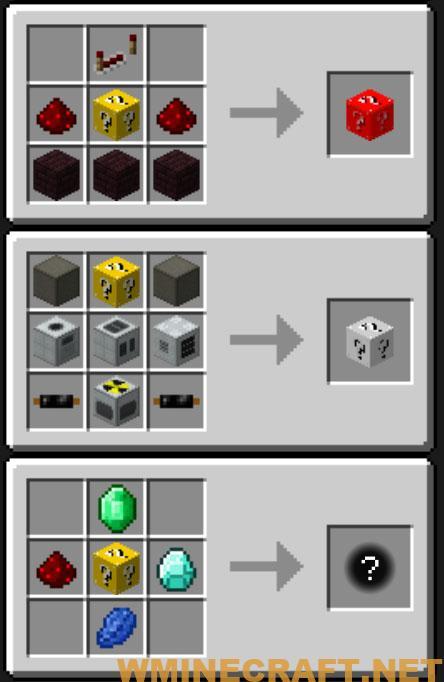 Lucky Block Mod Crafting Recipes 4 Lucky Block Mod 1.16.2/1.15.2/1.7.10 - Updated