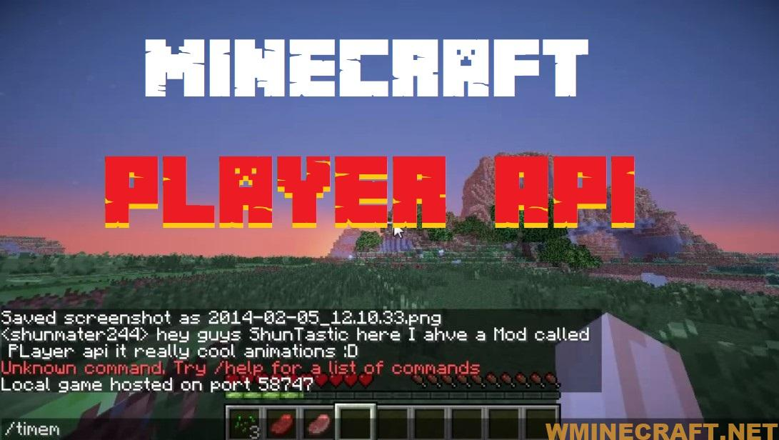 The Player API Mod 1.16.3-1.16.2-1.14.4-1.12.2-1.7.10