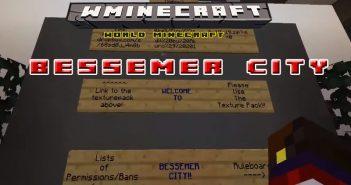 Bessemer City Map Minecraft preview