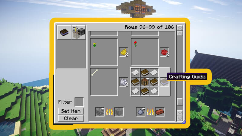CraftGuide Mod is considered to be very simple and useful mod