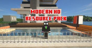 Extremely modern architectural space in Modern HD Resource Pack