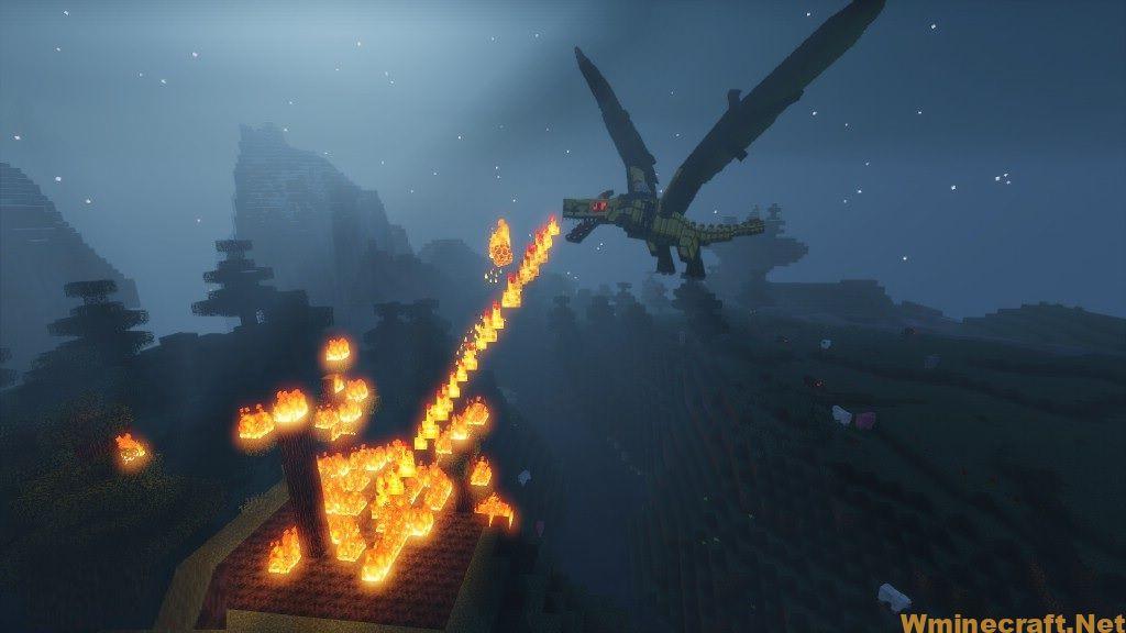 Fire Dragon burning