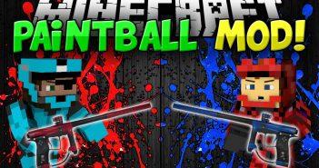 Paintball mod of Minecraft