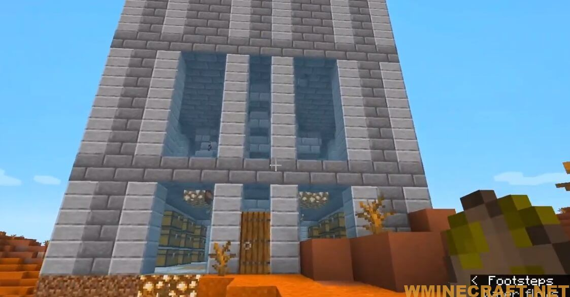 Monster Masher – Need some EXP or just some some mob drops? This is the structure for you! With a spawner for Zombies, Skeletons, Spiders and Creepers you will have plenty of loot to use. The building comes with chests to store all of that loot. You will still have to kill the monsters yourself. You can even turn the spawning on and off with a flip of a lever thanks to a system of redstone lamps.
