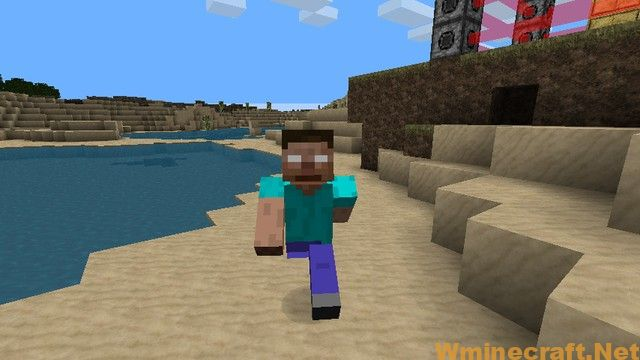 Dangerous and crazy character destroying everything in Minecraft