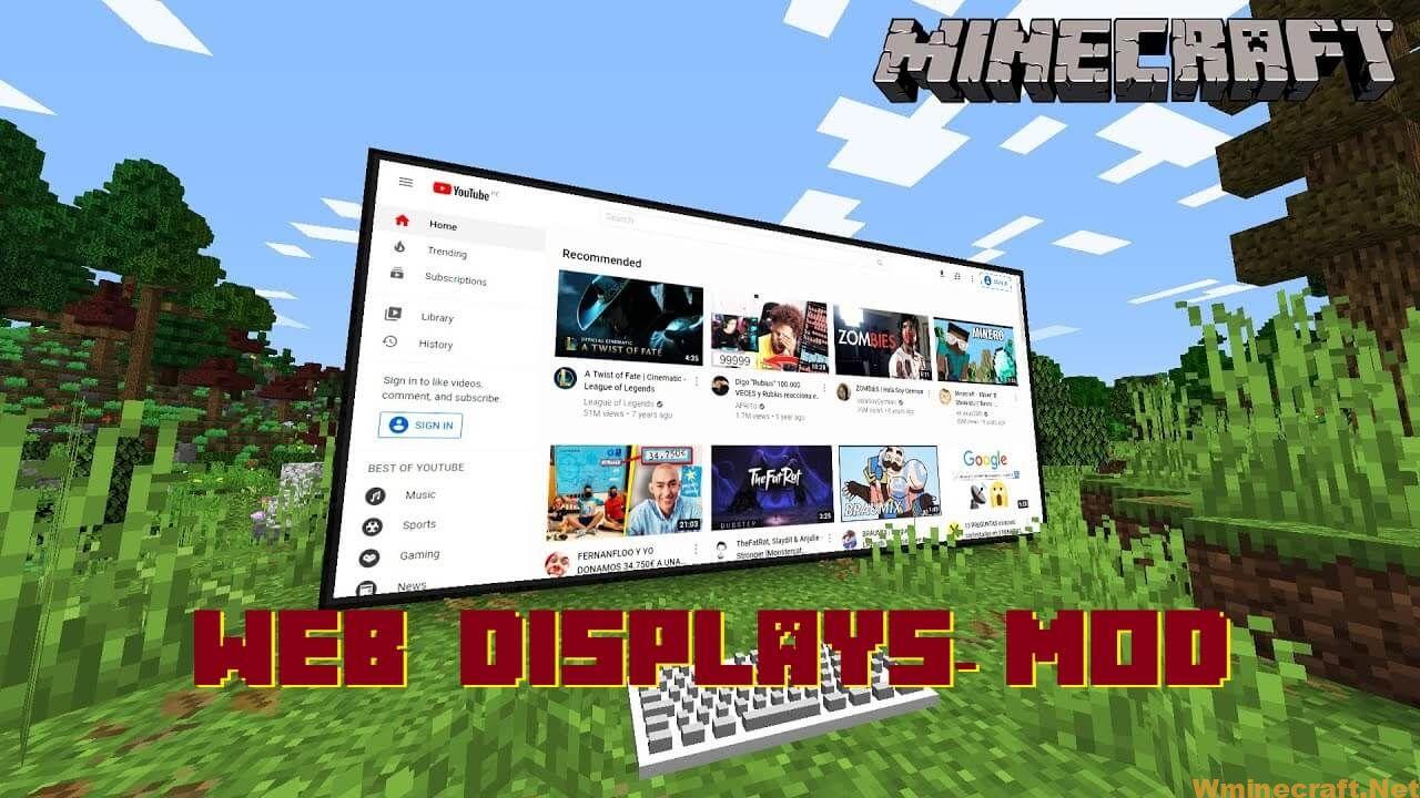 Web Displays Mod 1.12.2